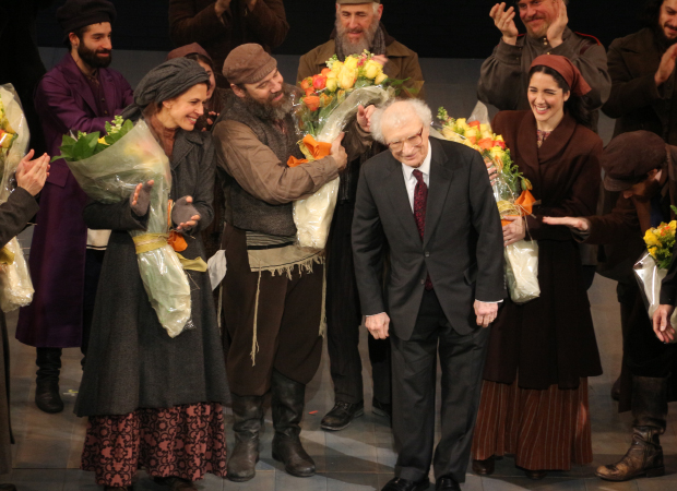 Superior As Jessica Hecht, Danny Burstein, And Samantha Massell Look On, Fiddler On  The