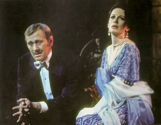 Len Cariou and Patricia Elliott in the original Broadway production of Stephen Sondheim and Hugh Wheeler's A Little Night Music.