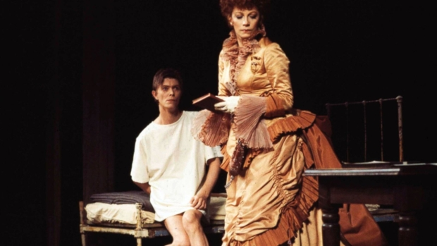 David Bowie and Patricia Elliott in the Broadway production of The Elephant Man.