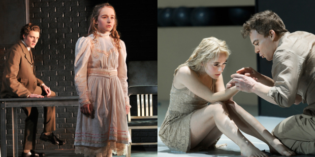 Sophia Anne Caruso in The Nether at the Lucille Lortel Theatre and Lazarus at New York Theatre Workshop.