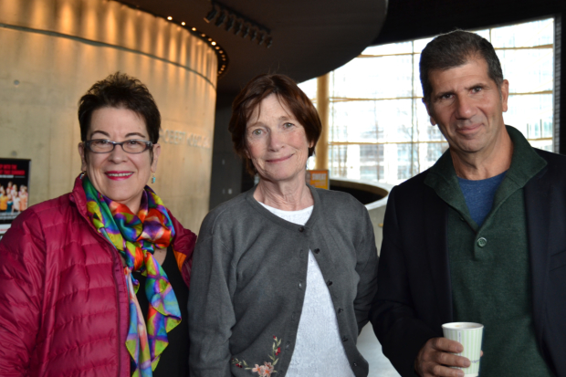 Artistic Director Molly Smith, Ann McDonough (Jean Swift) and playwright Anthony Giardina at the first rehearsal of The City of Conversation at Arena Stage.