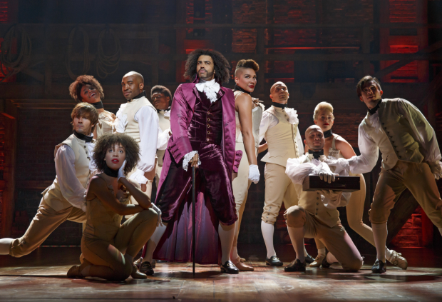 Daveed Diggs plays Thomas Jefferson in the Broadway production of Lin-Manuel Miranda's musical Hamilton.