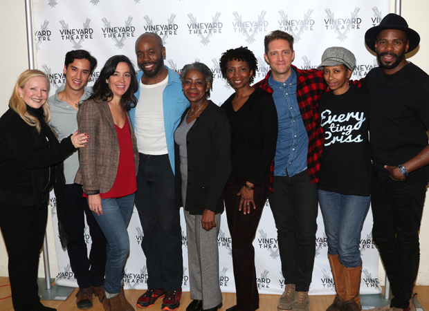 Susan Stroman and Colman Domingo join the cast of Dot for a family photo.