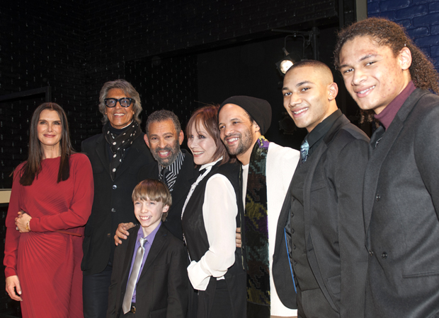 Maurice Hines, Luke Spring, and the Manzari Brothers celebrate their opening night with guests Brooke Shields, Tommy Tune, Michele Lee, and Savion Glover.