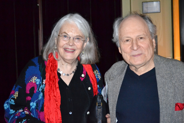 David Margulies with his companion, the actress Lois Smith, at the opening night of David Greenspan's Go Back to Where You Are in 2011.
