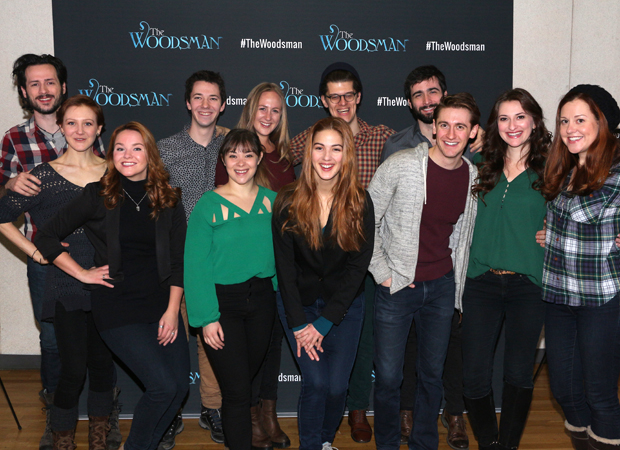 The cast and creative team of The Woodsman, coming to New World Stages.