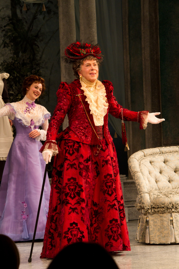 Brian Bedford takes a bow as Lady Bracknell in Roundabout Theater Company's 2011 revival of The Importance of Being Earnest.