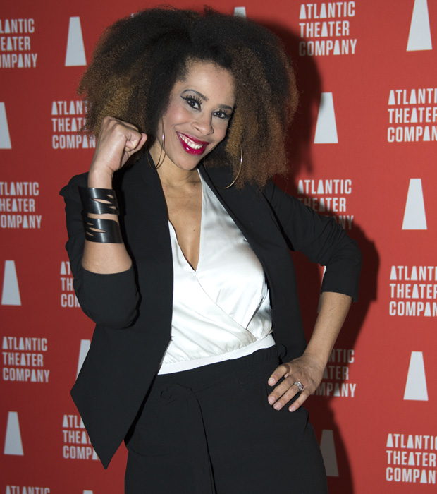 Dominique Morisseau celebrates the opening night of her new play, Skeleton Crew.