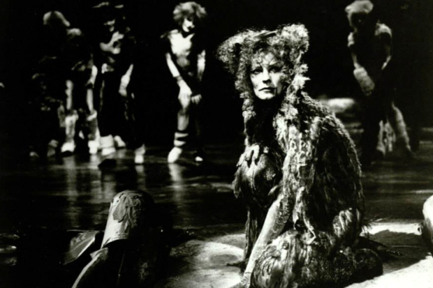 Betty Buckley in her Tony Award-winning role of Grizabella in the original Broadway production of Cats.