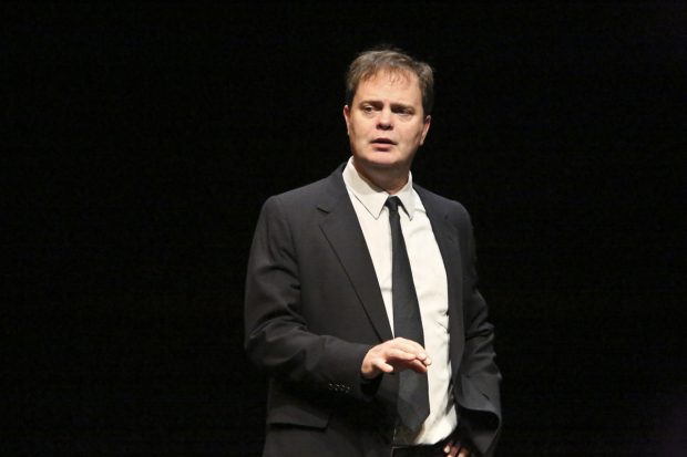 Rainn Wilson in Will Eno's Thom Pain (based on nothing), directed by Oliver Butler, at the Geffen Playhouse.