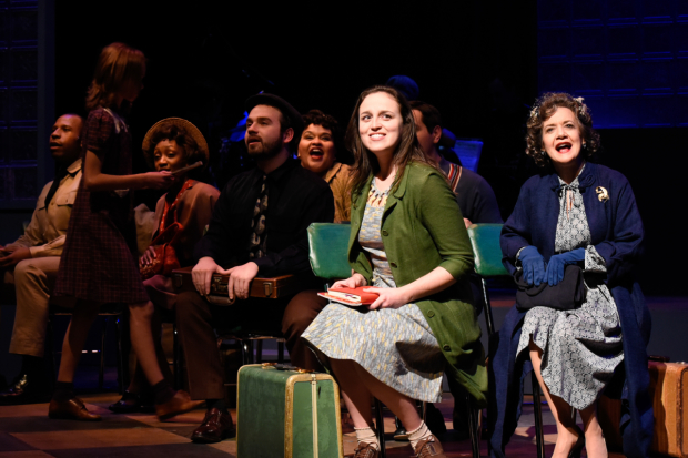 Alison McCartan (center) and the cast of Violet, directed by Paul Daigneault, at SpeakEasy Stage Company.