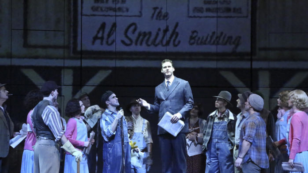 Kevin Earley as architect Michael Shaw and the cast of Empire, directed by Marcia Milgrom Dodge, at La Mirada Theatre.