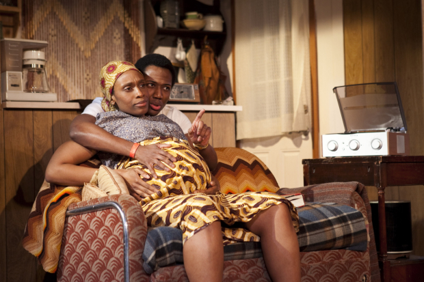 Chinasa Ogbuagu and Hubert Point-Du Jour star in Mfoniso Udofia's Sojourners, directed by Ed Sylvanus Iskandar for The Playwright's Realm at the Peter Jay Sharp Theater.