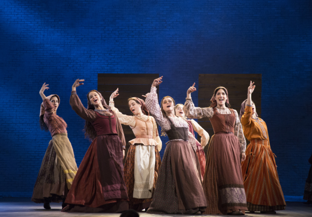 Marvelous The Female Ensemble Of Fiddler On The Roof At The Broadway Theatre.