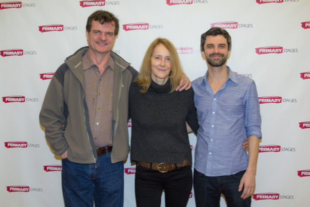 Director Jo Bonney joins Michael Cumpsty and Mike Crane for a photo.