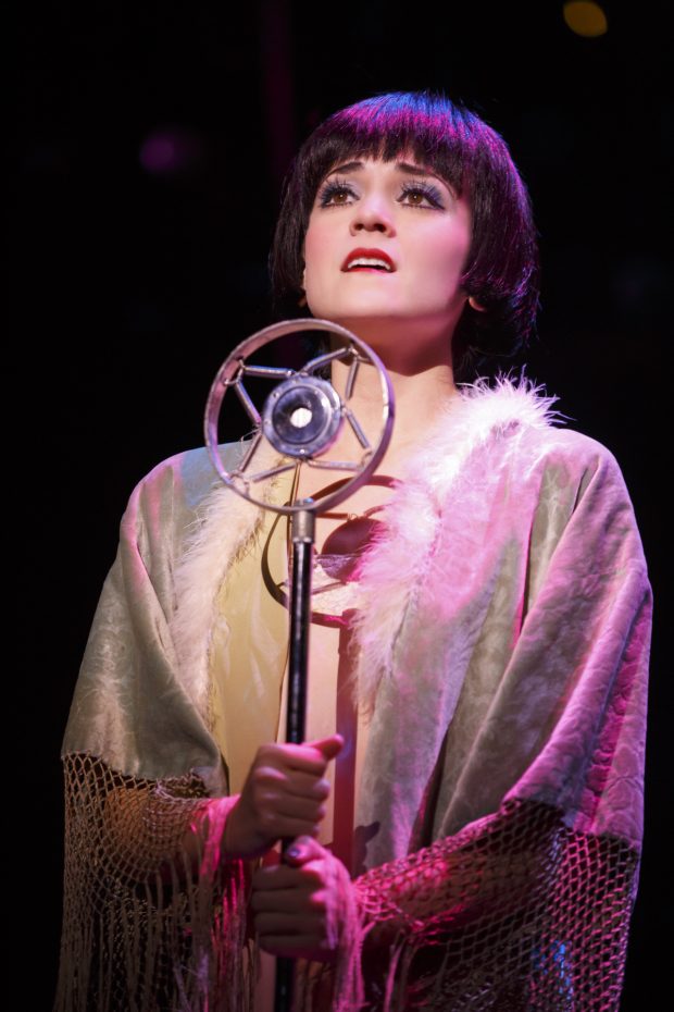Andrea Goss as Sally Bowles in the new national tour of Cabaret.
