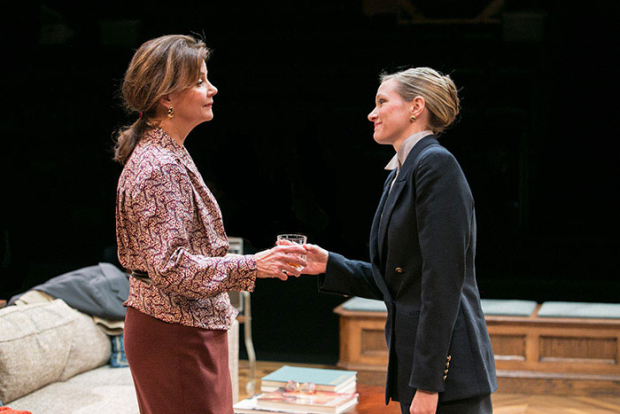 Margaret Colin and Caroline Hewitt in The City of Conversation, directed by Doug Hughes, at Arena Stage.