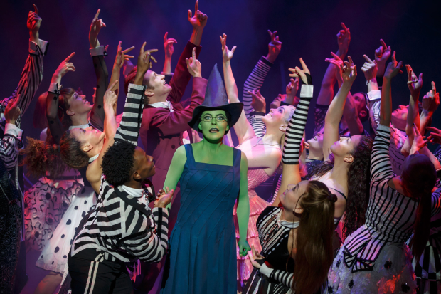 Rachel Tucker stars as Elphaba in the long-running Broadway production of Wicked.