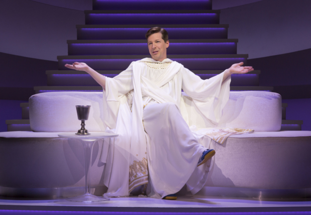 Sean Hayes as God in An Act of God, written by God, transcribed by David Javerbaum, and directed by Joe Mantello, at Center Theatre Group's Ahmanson Theatre.