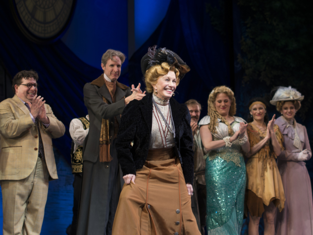 Sandy Duncan celebrated her opening night as Madame du Maurier in Finding Neverland.