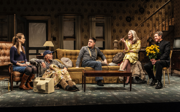 Taissa Farmiga, Ed Harris, Rich Sommer, Amy Madigan, and Larry Pine star in Sam Shepard's Buried Child, directed by Scott Elliott for The New Group at the Pershing Square Signature Center.