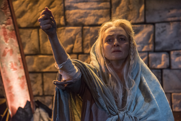 Paula Langton in The Testament of Mary at New Repertory Theatre.