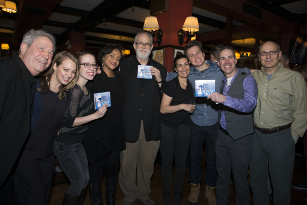 The company of A New Brain celebrates the release of their new cast album.
