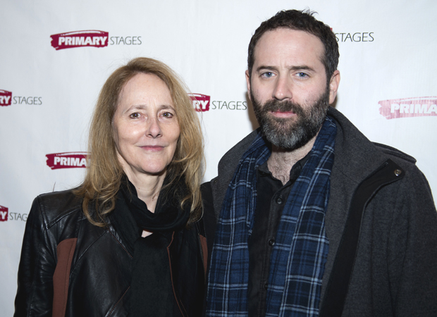 Director Jo Bonney and playwright Dan O'Brien celebrate their opening night.