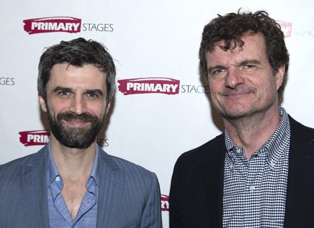 Michael Crane and Michael Cumpsty star in The Body of an American at the Cherry Lane Theatre.