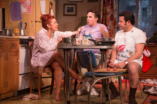Joli Tribuzio plays Dotty, Mario Cantone plays Jackie, and Johnny Tammaro plays Peter in A Room of My Own.