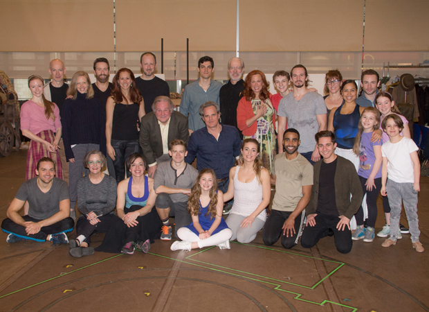 The cast of Tuck Everlasting gathers for a group shot.
