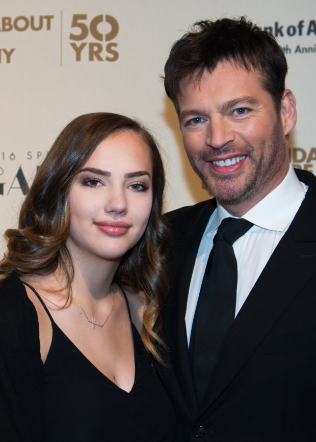 Roundabout vet Harry Connick Jr. (The Pajama Game) arrives at the gala with his daughter, Charlotte.