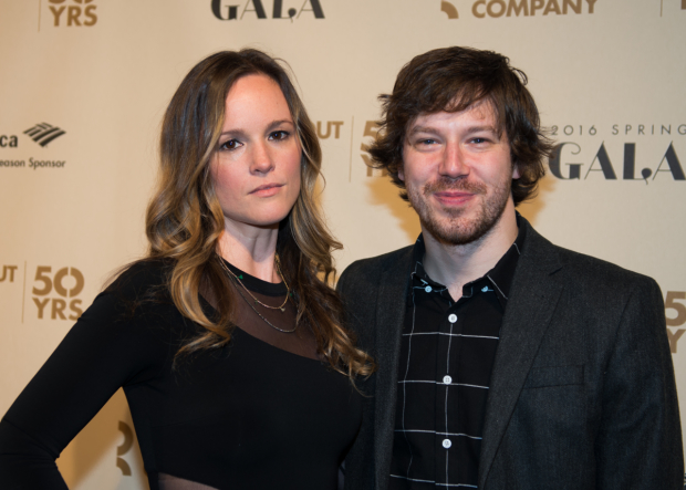 John Gallagher Jr., one of the stars of Roundabout's upcoming Long Day's Journey Into Night revival, poses for photos with his girlfriend, Libby Winters.