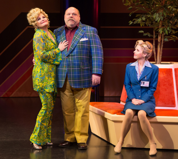 Faith Prince, Kevin Chamberlin, and Kerry Butler in a scene from Disaster!