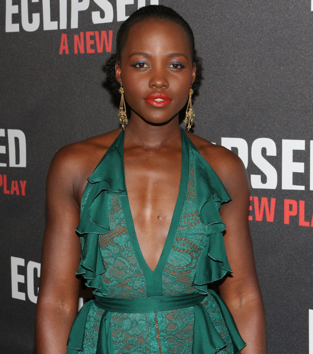 Oscar winner Lupita Nyong'o celebrates the opening night of her Broadway debut.