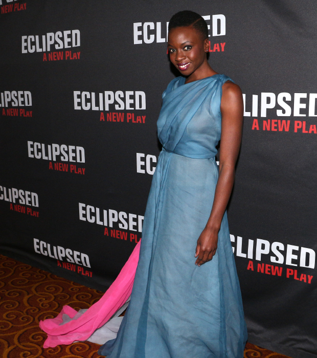 Danai Gurira shows off her beautiful opening night gown.