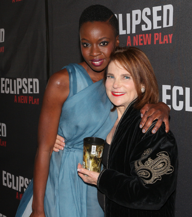 It's a Walking Dead reunion for TV castmates Danai Gurira and Tovah Feldshuh, who was on hand for the festivities.