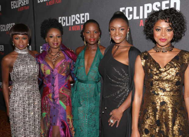 The cast of ''Eclipsed': Zainab Jah, Akosua Busia, Lupita Nyong'o, Saycon Sengbloh and Pascale Armand.