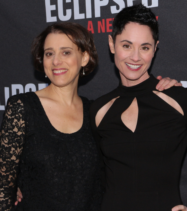 Fun Home Tony nominees Judy Kuhn and Beth Malone check out Eclipsed after their Sunday performance.