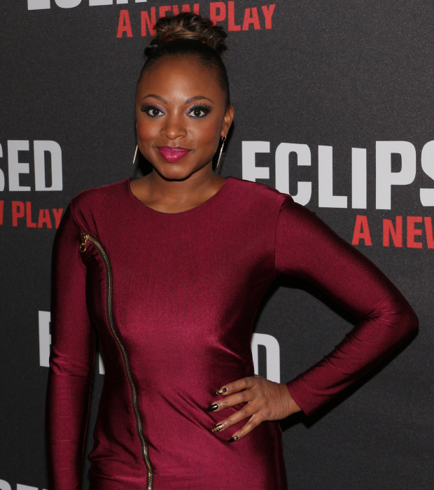 Power star Naturi Naughton is on hand for the opening of Eclipsed.