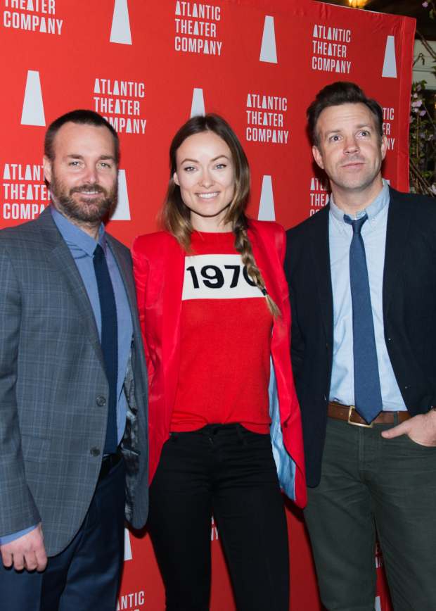 Screen favorites Will Forte, Olivia Wilde, and Jason Sudekis celebrate Atlantic Theater Company.