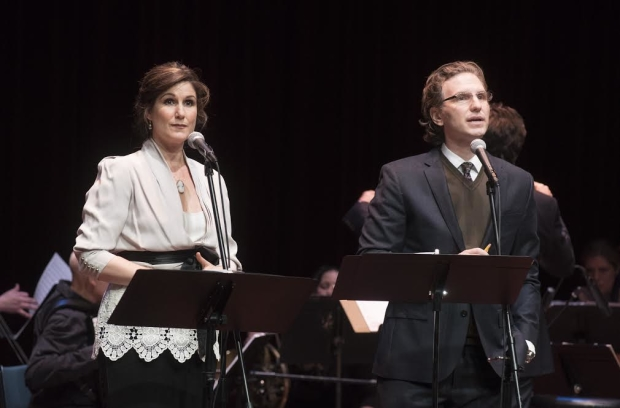 Stephanie J. Block and Sebastian Arcelus play Lucille and Leo Frank in a concert of Parade