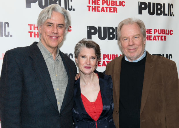 Annette O'Toole's husband, Michael McKean, joins her and Jeff McCarthy for an opening night snapshot.