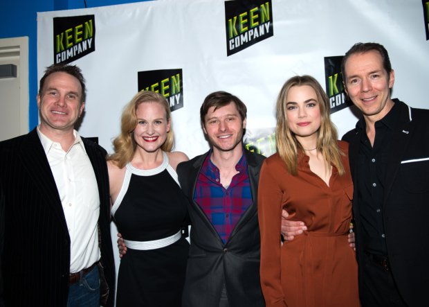 The cast of Boy: Ted Köch, Heidi Armbruster, Bobby Steggert, Rebecca Rittenhouse, and Paul Niebanck.