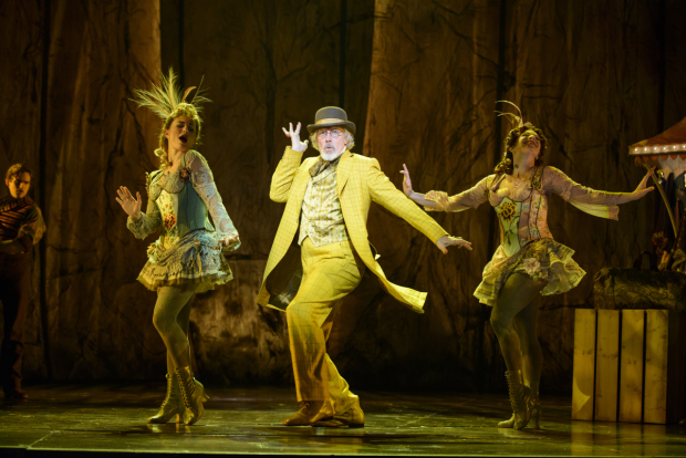 Terrence Mann as the Man in the Yellow Suit in Tuck Everlasting.