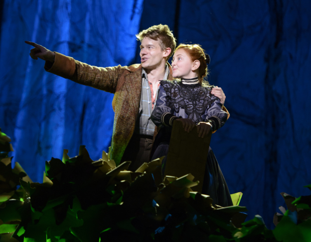 Andrew Keenan-Bolger as Jesse Tuck and Sarah Charles Lewis as Winnie in the new Broadway musical Tuck Everlasting.
