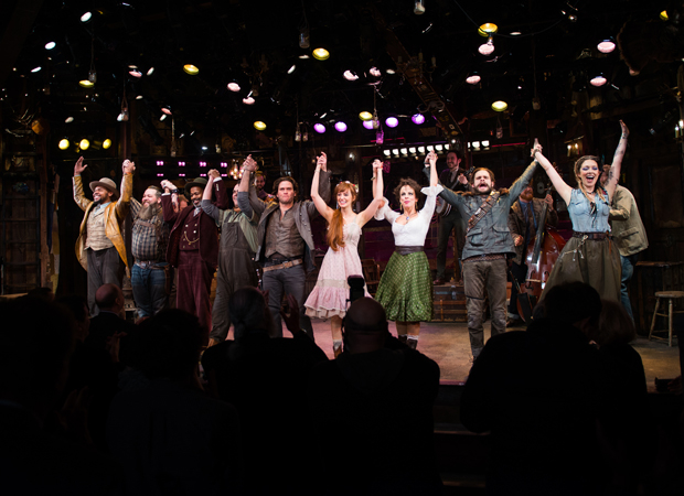 It's curtain call-time at the opening night of The Robber Bridegroom.