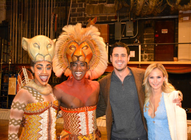 The Lion King welcomes Ben Higgins and Lauren Bushnell of TV's The Bachelor.