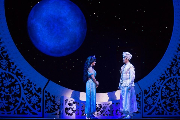 Original Aladdin stars Courtney Reed and Adam Jacobs will remain with the Broadway production for another year.