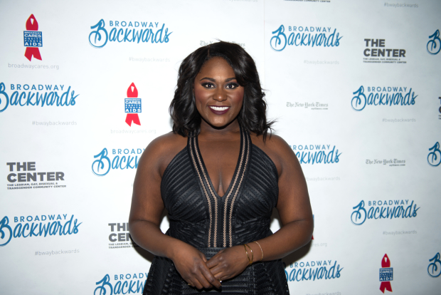 The Color Purple's Danielle Brooks is on hand to support Broadway Cares.